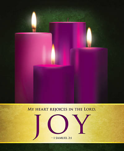 Picture of Joy Advent Candles Sunday 3 Bulletin, Large (Pkg of 50)