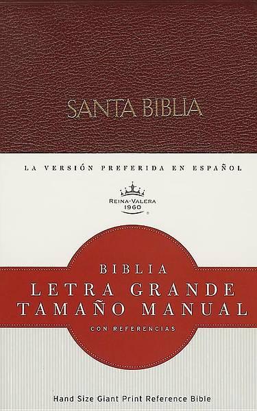 Picture of Rvr 1960 Biblia Letra Grande Tamano Manual, Rojizo Imitacion Piel Con Indice