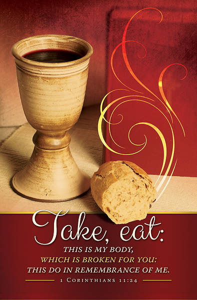 Picture of Take, Eat, This Is My Body (1 Corinthians 11:24) Communion Regular Bulletin