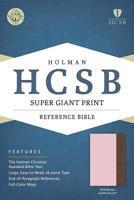 HCSB Super Giant Print Reference Bible, Pink/Brown Leathertouch