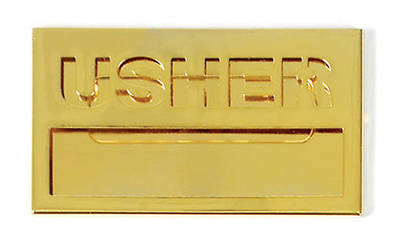 Picture of Brass Usher Name Badge