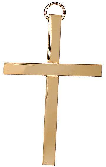 "Clergy 3"" Bar Gold Cross"