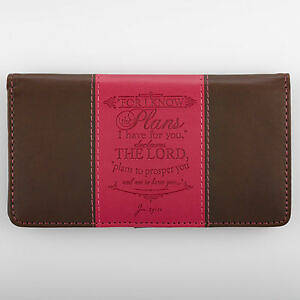 Picture of Checkbook Cover Pink/Brown