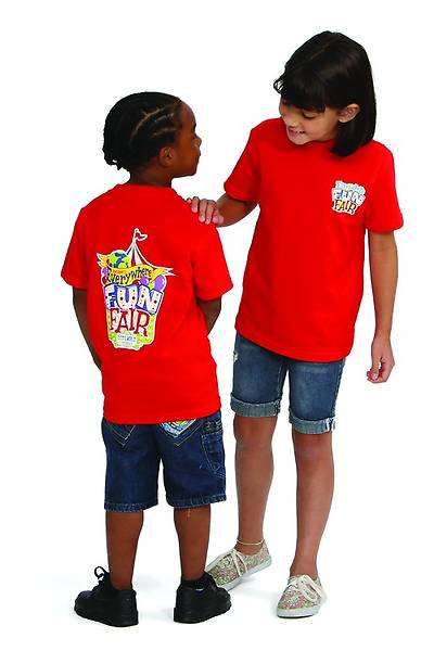 Vacation Bible School 2013 Everywhere Fun Fair Child T-shirt Size Medium (Size 10-12) VBS