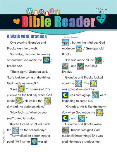 Standard HeartShaper Early Elementary Weekly Bible Reader THP Fall 2013  (pack of 5)