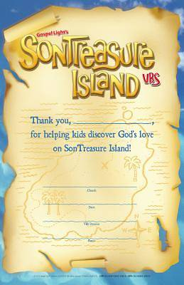 Gospel LIght VBS 2014 SonTreasure Island Volunteer Certificates (10 pack)