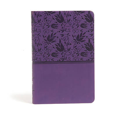 Picture of CSB Large Print Personal Size Reference Bible, Purple Leathertouch, Indexed