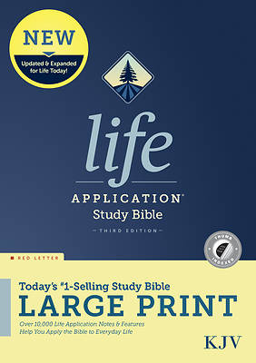 Picture of KJV Life Application Study Bible, Third Edition, Large Print (Red Letter, Hardcover, Indexed)
