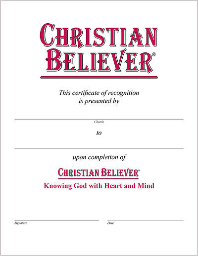 Picture of Christian Believer Certificate [PDF Download]