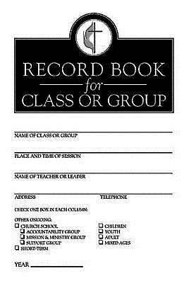 Picture of Record Book for Class or Group (Pkg of 12)