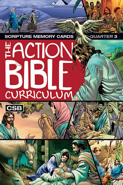 Picture of The Action Bible Scripture Memory Cards CSB Spring