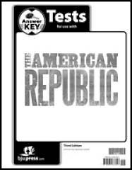American Republic Grade 8 Test Pack Answer Key 3rd Edition