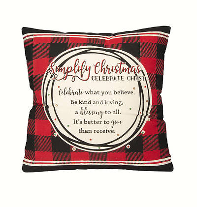"""Picture of Simplify Christmas Pillow 12"""""""