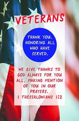 Picture of Veterans Thank You Bulletin (Pkg 100) Patriotic