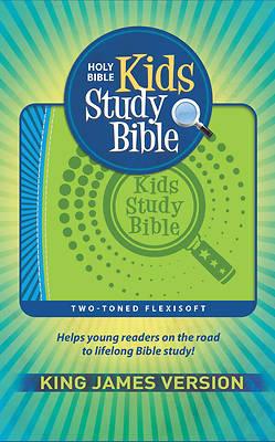 Picture of KJV Kids Study Bible Flex Green Blue
