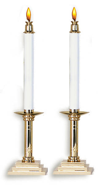 Candlesticks 10 Inch Brass (Pair)