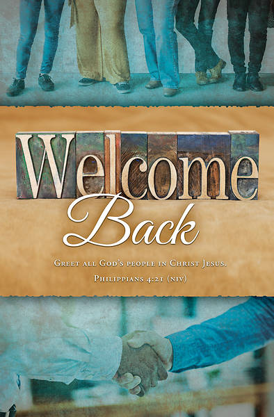 Picture of Welcome Back to Church Regular Size Bulletin