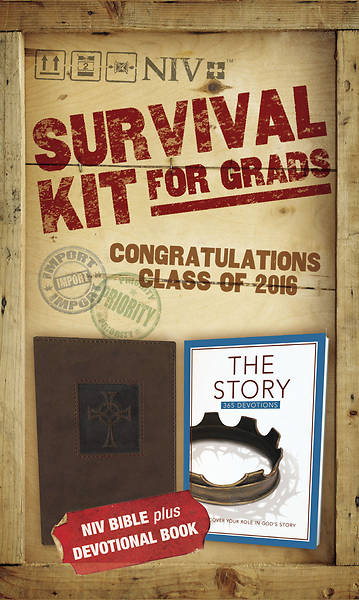 Picture of 2016 Survival Kit for Grads - NIV- Brown