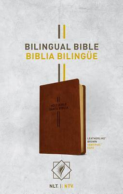 Bilingual Bible / Biblia Bilinge Nlt/Ntv (Leatherlike, Brown)