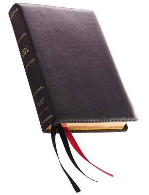 KJV, Reference Bible, Giant Print, Premium Leather, Black, Sterling Edition, Comfort Print