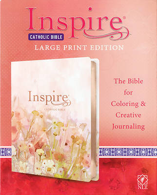 Picture of Inspire Catholic Bible NLT Large Print (Leatherlike, Pink Fields with Rose Gold)