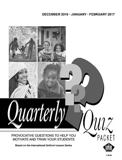 Picture of UMI Quarterly Quiz Winter 2016-17 Pkg of 5
