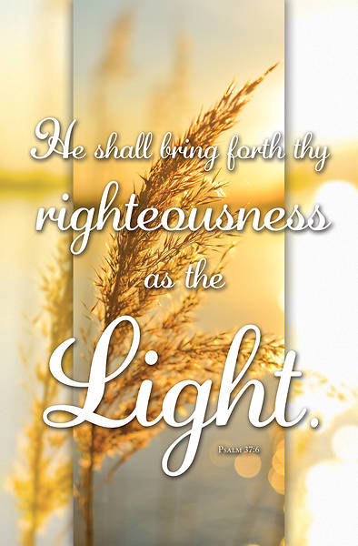 Picture of Rightousness is Light General Regular Size Bulletin