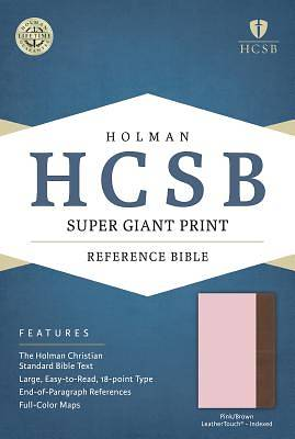 Picture of HCSB Super Giant Print Reference Bible, Pink/Brown Leathertouch Indexed