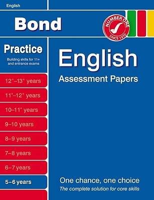 Bond English Assessment Papers 5-6 Years
