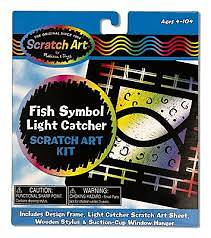 Fish Symbol Light Catcher Scratch Art Kit