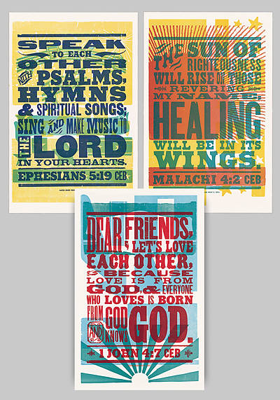 Common English Bible Poster Pack