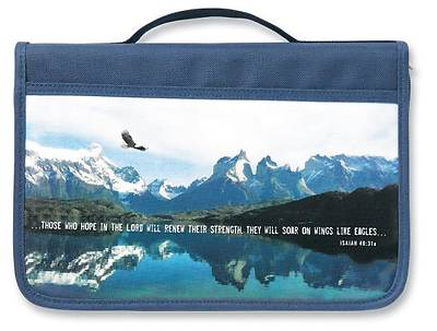 Picture of Inspiration Eagle Fabric Large Navy Book & Bible Cover