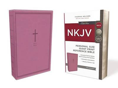 Picture of NKJV, Reference Bible, Personal Size Giant Print, Imitation Leather, Pink, Red Letter Edition, Comfort Print