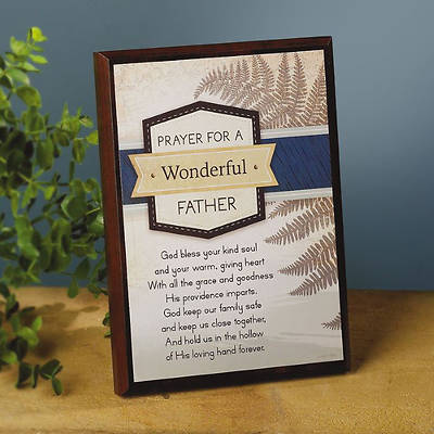 Prayer for a Wonderful Father Plaque