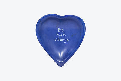 Picture of Heart Dish Be the Change