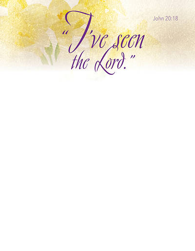 Picture of I've Seen Easter Lilies Letterhead (Pkg of 50)