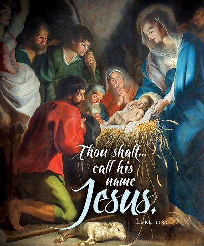 Picture of Call His Name Jesus Old Master Art Christmas Legal Size Bulletin