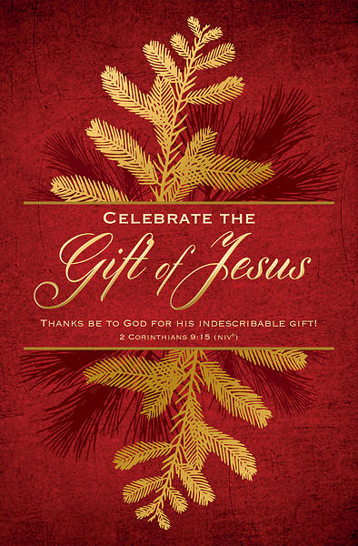 Picture of Celebrate the Gift of Jesus Christmas Regular Size Bulletin
