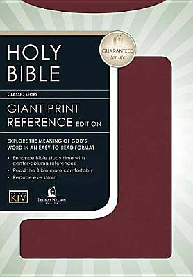 Giant Print Classic Reference Bible-KJV-Center Column