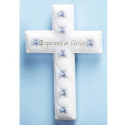 Picture of Baptism Baby Boy Wall Cross