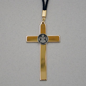 Gold Plated Service Cross with Pewter Presbyterian Church USA Logo