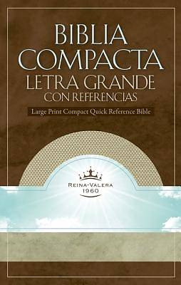 Rvr 1960 Large Print Compact Quick Reference Bible - White Gold