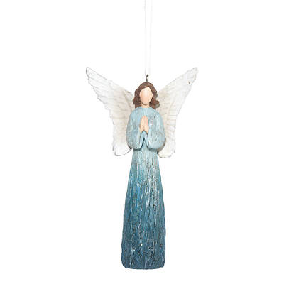 Picture of Angel Blue with Praying Hands Ornament