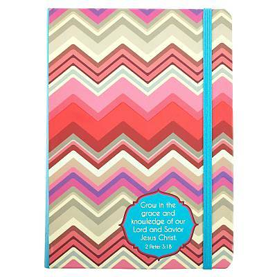 Journal - Chevron Pink/Red - Grow in Grace