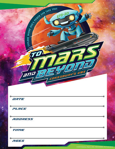 Picture of Vacation Bible School (VBS) To Mars and Beyond Small Promotional Poster (Pkg of 2)