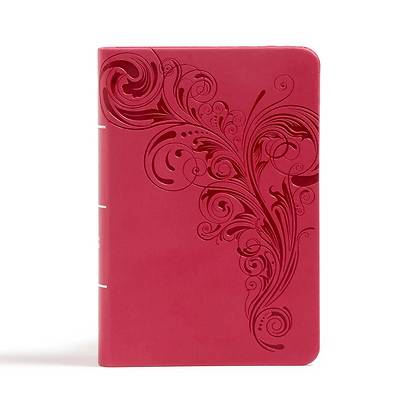 Picture of CSB Large Print Compact Reference Bible, Pink Leathertouch