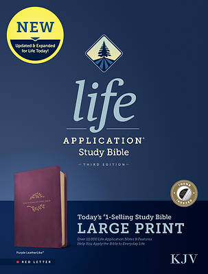 Picture of KJV Life Application Study Bible, Third Edition, Large Print (Red Letter, Leatherlike, Purple, Indexed)