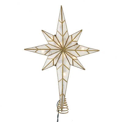 Picture of 10 Light Multi-Tip Capiz Bethlehem Star Treetop