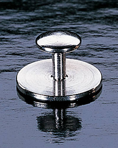 Simple Chrome Plated Collar Button - Pair