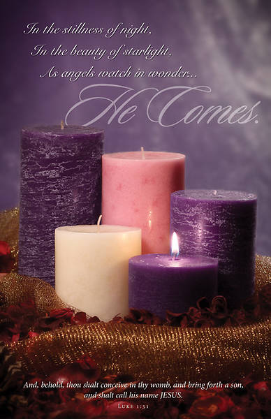 Picture of He Comes Advent Bulletin Luke 1:31 (Pkg of 100)